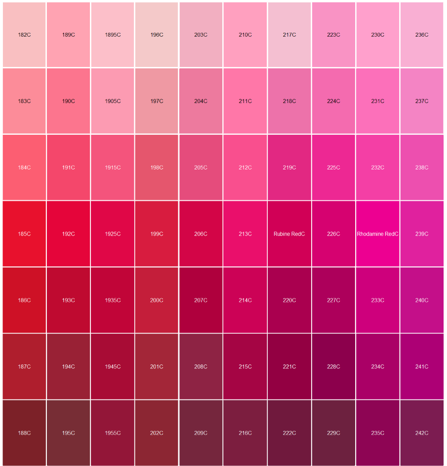 pantone pink color chart - photo #6